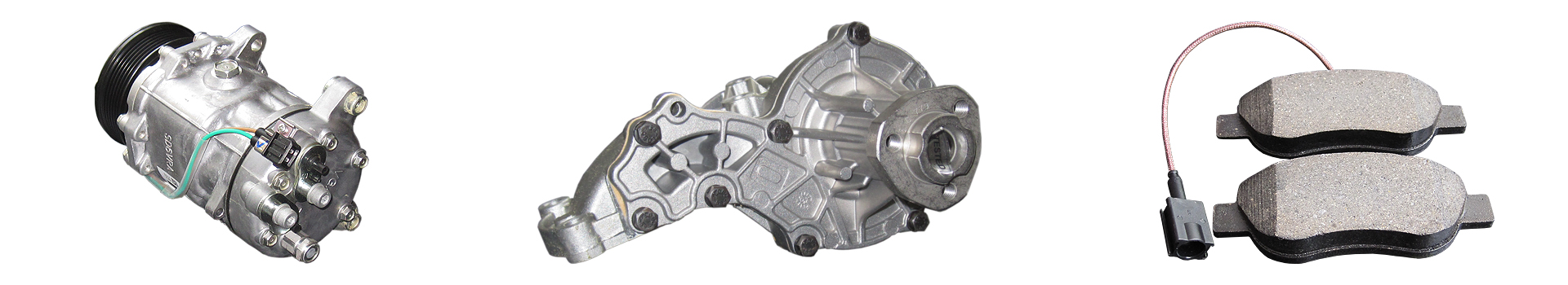 Kfz-Ersatzteile: Kompressor Wasserpumpe Bremsbelag
